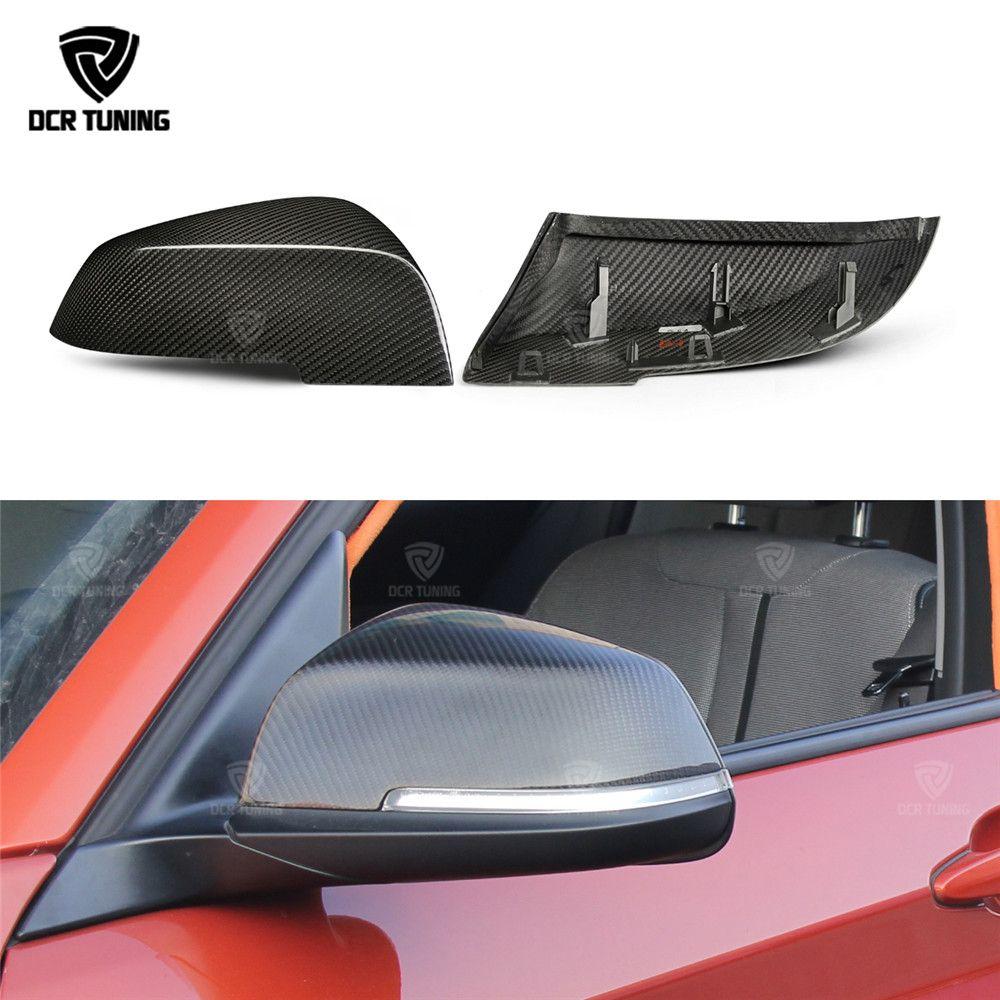 Dry Carbon For BMW 1 2 3 4 X Series Carbon Fiber Rear View Mirror Cover F20 F21 F22 F23 F30 F31 F32 F33 F36 X1 E84 F87 M2