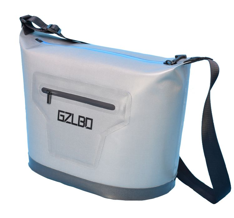 Classic style 30can large grey cooler bag soft pack outdoor ice bag