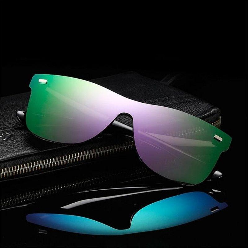 ZXTREE Fashion One Piece Lens Sunglasses Men Women Vintage Coating Mirror Sun Glasses Men Glasses Unisex Shades Oculos UV400 Z12