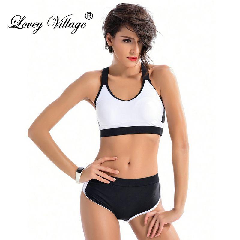 Chaud 2019 femmes maillots de bain Sexy deux pièces Tankini maillot de bain femmes nager plage Sport Shorts maillot de bain body grande taille blanc