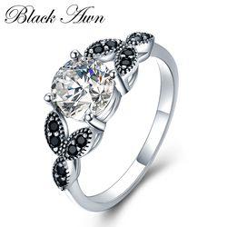 [BLACK AWN] кольцо из стерлингового серебра 925 ювелирные изделия модное Помолвочное кольцо Обручальные кольца для женщин размер 5 6 7 8 9 10 C035
