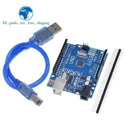 TZT UNO R3 Development Board ATmega328P CH340 CH340G For Arduino UNO R3 With Straight Pin Header
