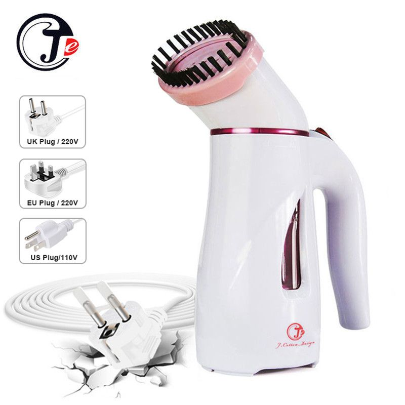 Russian Warehouse Hot Selling Handheld Ironing Machine Portable Dry Cleaning Travel Garment Steamer wiht Brush for Clothes Iron
