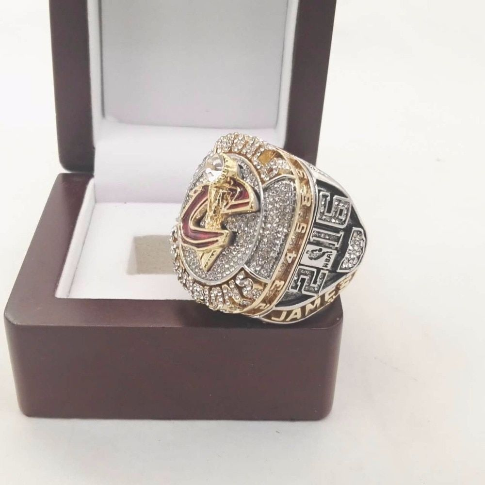 Who Can Beat Our Rings, High Quality 2016 Cleveland Cavaliers Basketball custom sports World Championship Ring with Wooden Boxes