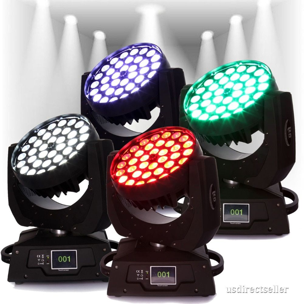 (Ship from DE) 4PCS 360W Zoom RGBW Wash Light Led Moving Head Stage DMX stage lighting Licht