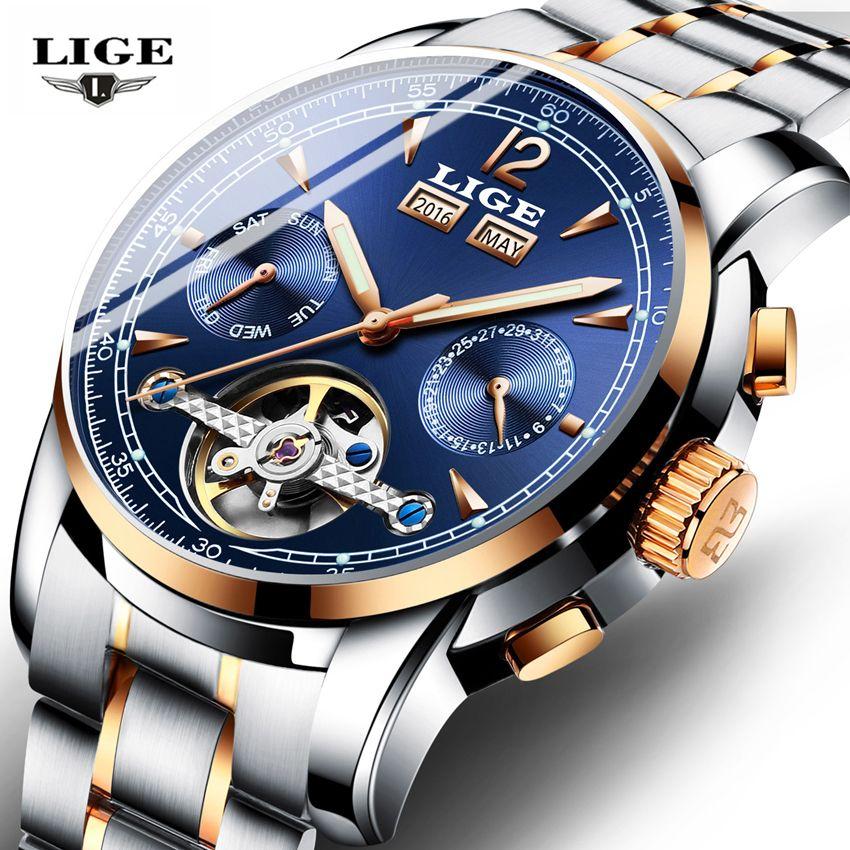 Uhren LIGE Männlichen Automatische mechanische Sport Uhr Männer Luxus Marke Casual Uhren Männer der Armbanduhr armee Uhr relogio masculino