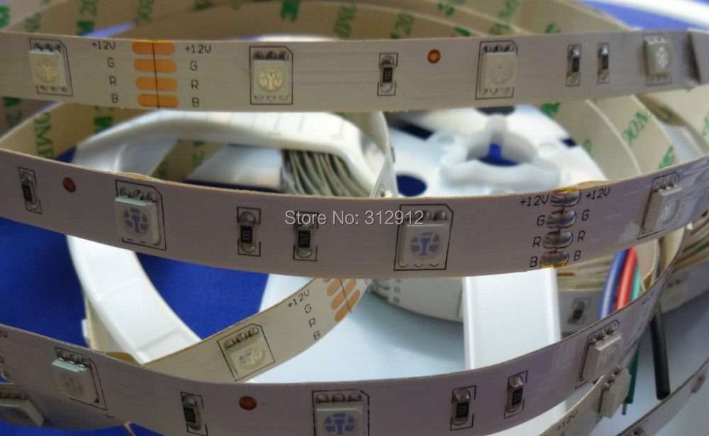 DC12V LED strip 5050 SMD flexible light 30LED/m,5m 150LED,White,warm,Blue,Green,Red,Yellow;RGB;non-waterproof;IP33