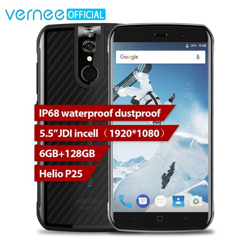 Mondial Version Vernee Active IP68 Étanche Et Robuste Smartphone Helio P25 6 GB 128 GB 5.5