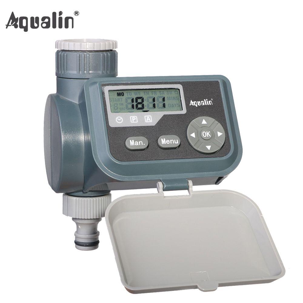 Waterproof LCD Screen Watering Timer Solenoid Valve Garden Water Timer Garden Irrigation Controller with Multifunction #21004A