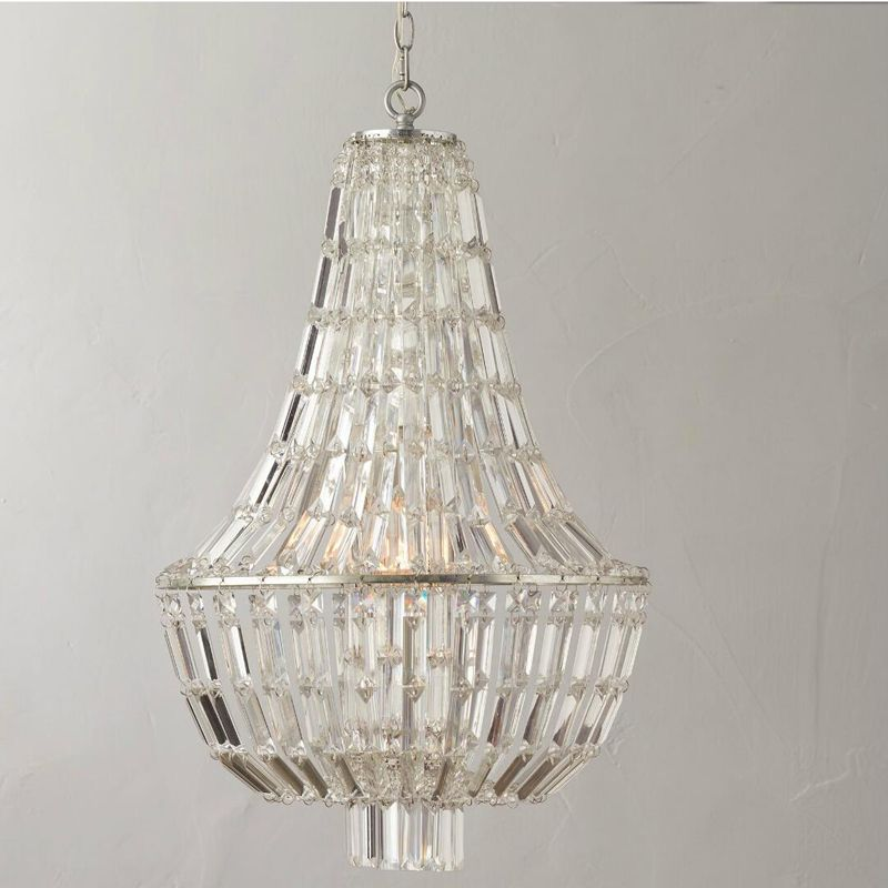 T Retro American Crystal Bedroom Pendant Light For Dining Room Restaurant Bedroom Study Room Living Room Hotel LED E14 bulbs
