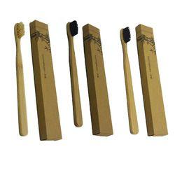 Nouveau Arrivé Bambou Poignée Brosse À Dents Nylon/Aiguiser Fil Poils Brosses À Dents pour La Maison Hôtel Pour Adultes