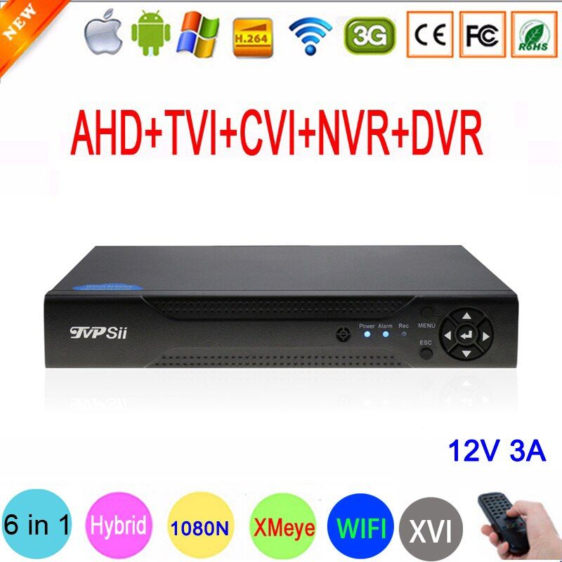 1080P/960P/720P/960H CCTV Camera XMeye Hi3521A 16 Channel 16CH <font><b>1080N</b></font> 6 in 1 Hybrid Wifi XVI TVi CVI NVR AHD DVR Video Recorder
