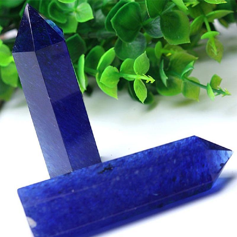 Bleu Minéraux Quartz Cristaux Pierres Naturelles Décoration Poli Baguettes Guérison Spécimen Cadeau Home Decor Drop Shipping D24