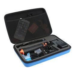 TELESIN Large Blue Portable Storage Bag Box Traveling Carry Case for GoPro Hero 6 Hero5 4 3+ 3 2 Xiaomi YI EKEN SJCAM Camera