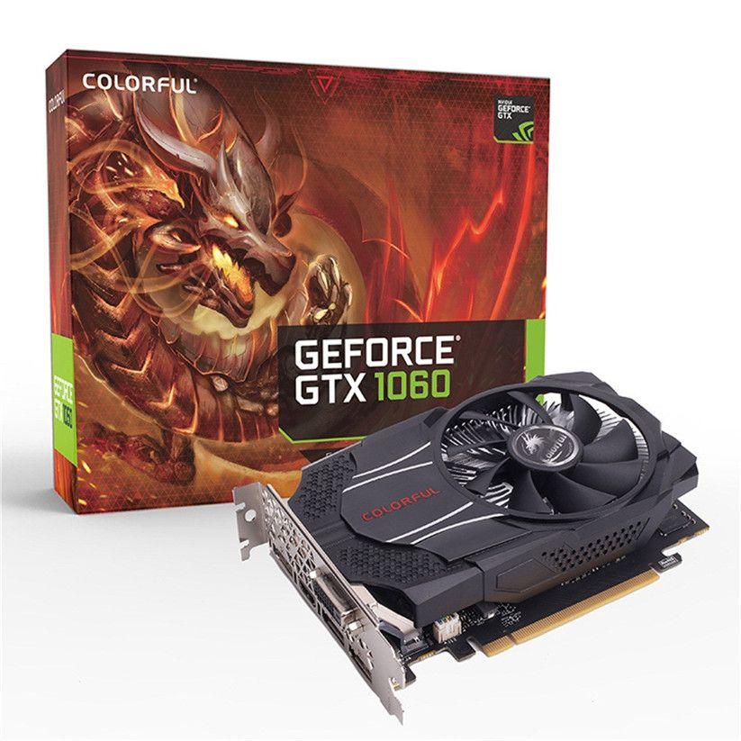 Bunte GTX1060 Mini OC 6G GDDR5 192Bit PCI Express Spiel Video Grafikkarte Grafikkarte td1225 DropShip