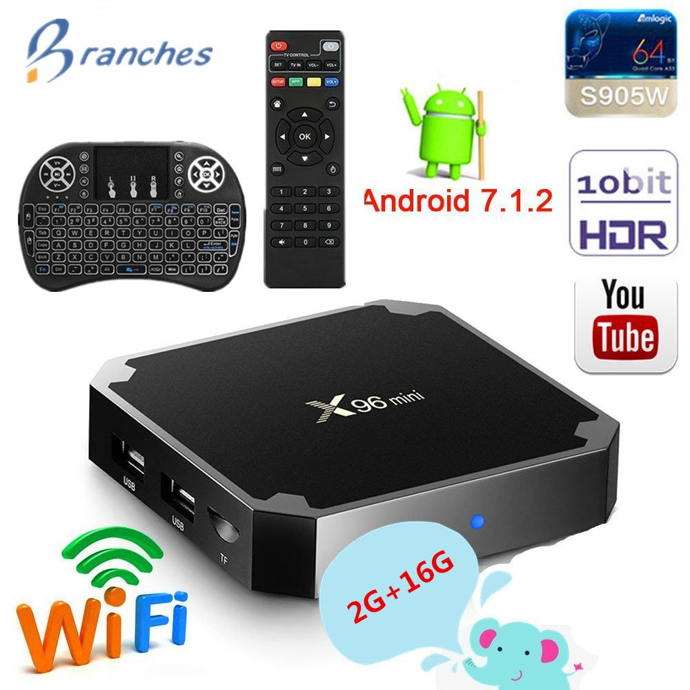 X96 mini tv box android 7.1 2 gb 16 gb Amlogic S905W tvbox Quad Core WiFi Media Player 1 gb 8 gb X96mini smart Set-top Box tv