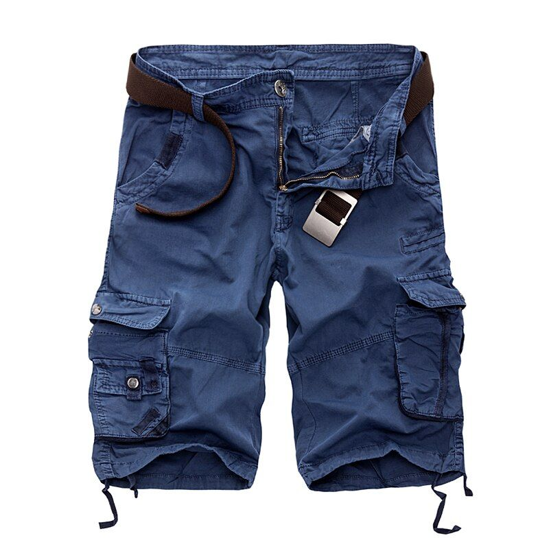 New 2018 Men Cargo Shorts Casual Loose Short Pants Camouflage Military Summer Style Knee Length Plus Size 10 Colors Shorts Men