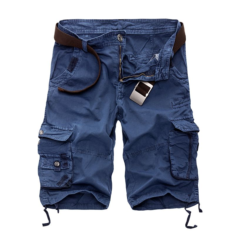 New 2018 Men Cargo Shorts Casual Loose Short Pants Camouflage <font><b>Military</b></font> Summer Style Knee Length Plus Size 10 Colors Shorts Men