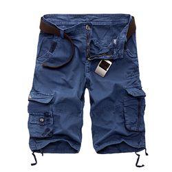 Nuevo 2018 hombres cortos flojos ocasionales pantalones cortos camuflaje militar verano estilo rodilla longitud más tamaño 10 colores cortos hombres
