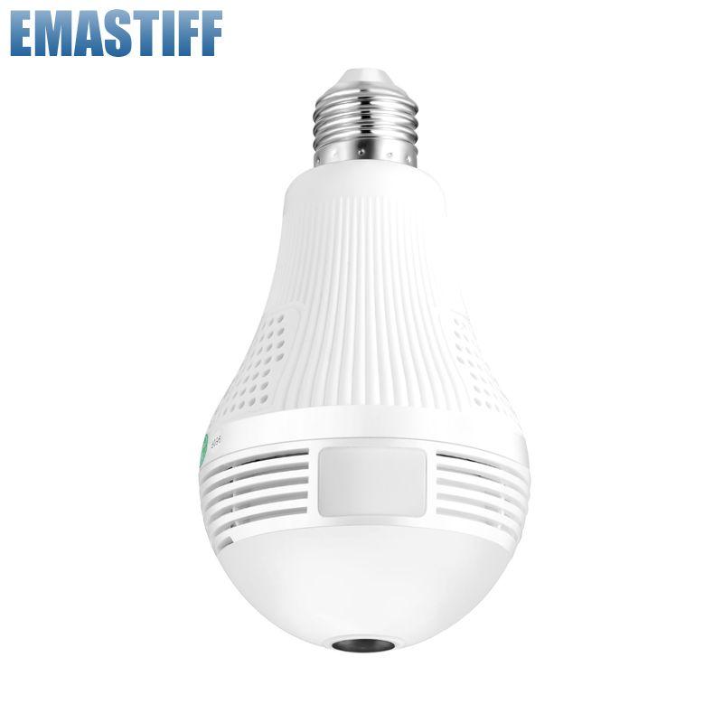 Caméra IP sans fil Wifi 960 P panoramique FishEye ampoule lampe sécurité à domicile CCTV caméra 360 degrés sécurité à domicile cambrioleur