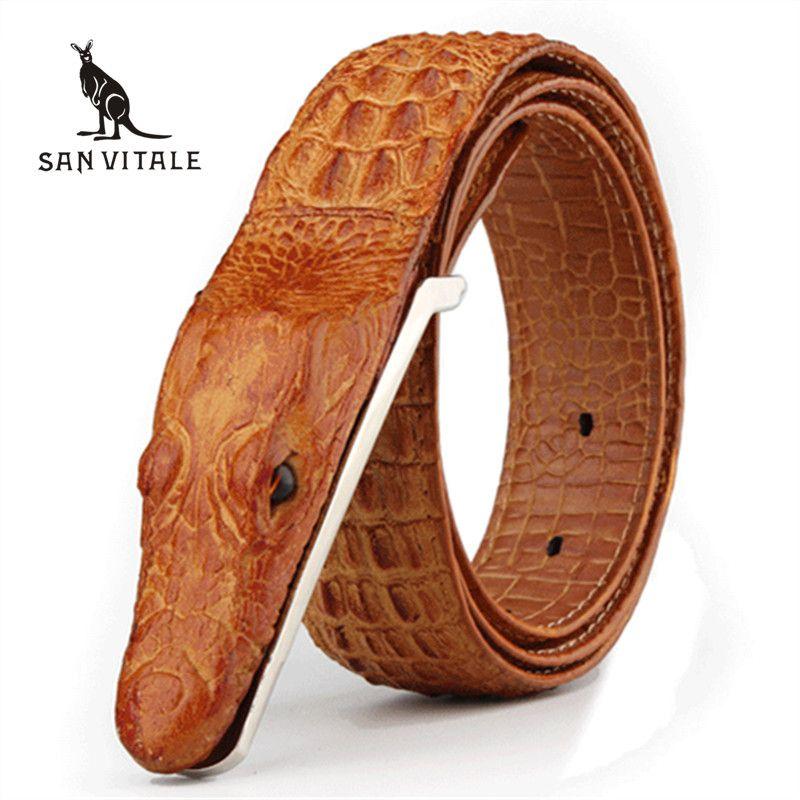 Mens Belts Luxury cow Leather Designer Belt Men High Quality Ceinture Homme Cinto <font><b>Masculino</b></font> Luxo Crocodile Cinturones Hombre