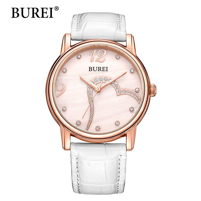 BUREI Women Watch Top Fashion Brand Female Casual Clock Sapphire Diamond Gilr Dress Waterproof Quartz Wristwatch New Arrival