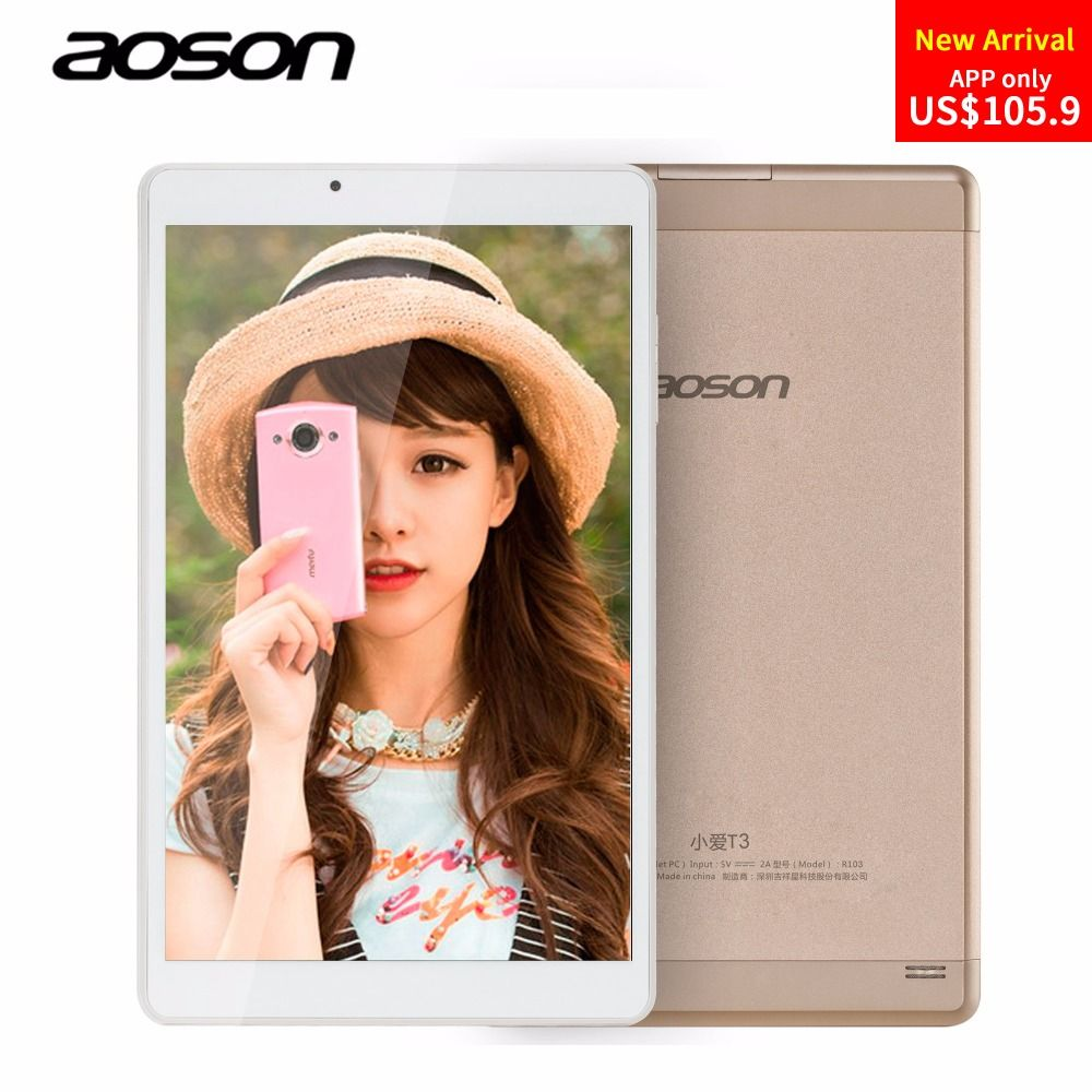 Luxury Golden 10.1 inch Aoson R103 Andriod 6.0 Tablet PC 32GB/2GB IPS 800*1280 Quad Core 5MP Bluetooth WIFI FM GPS Metal Case