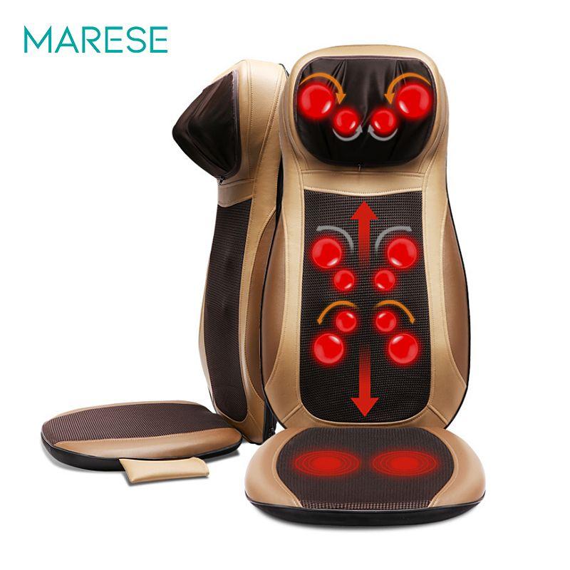 Elektrische Zurück Massager Zervikale Heizung Neck Taille shiatsu Kissen Haushalts Ganze Körper kneten Massage Für Stuhl