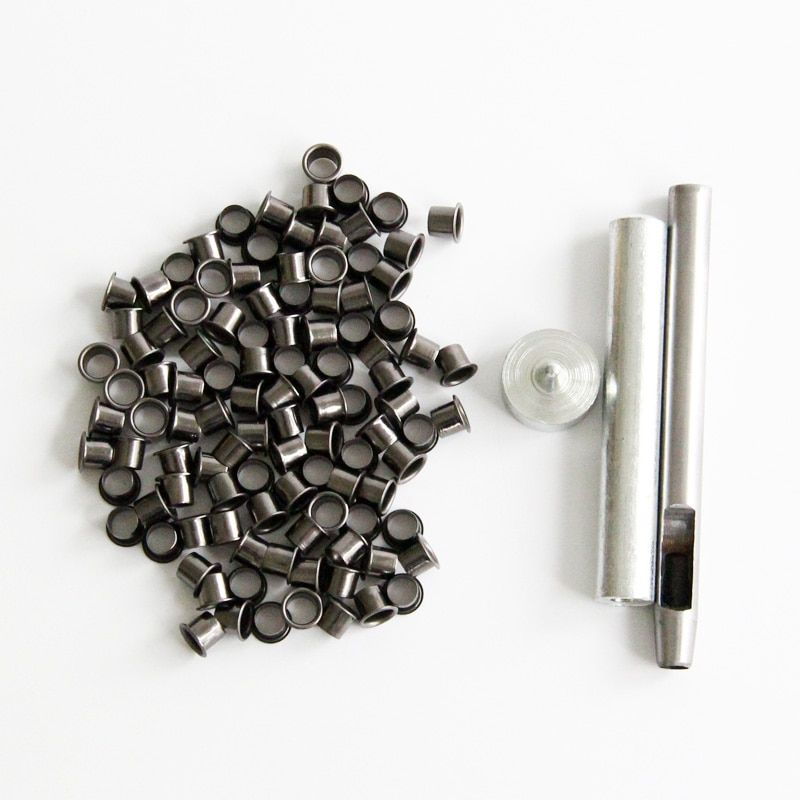 Eyelet Tool Set Grommet Kit +100 eyelets for DIY Kydex Sheath Huning knife Parts, Outdoor Tool