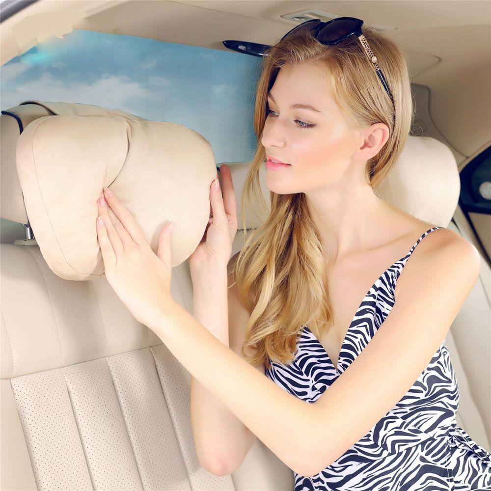 Maybach Дизайн s класс Ультра Soft Natrual автомобиля Средства ухода за кожей Шеи сиденье Подушки бренд подголовник Чехлы для мангала для Mercedes-Benz C e cls...