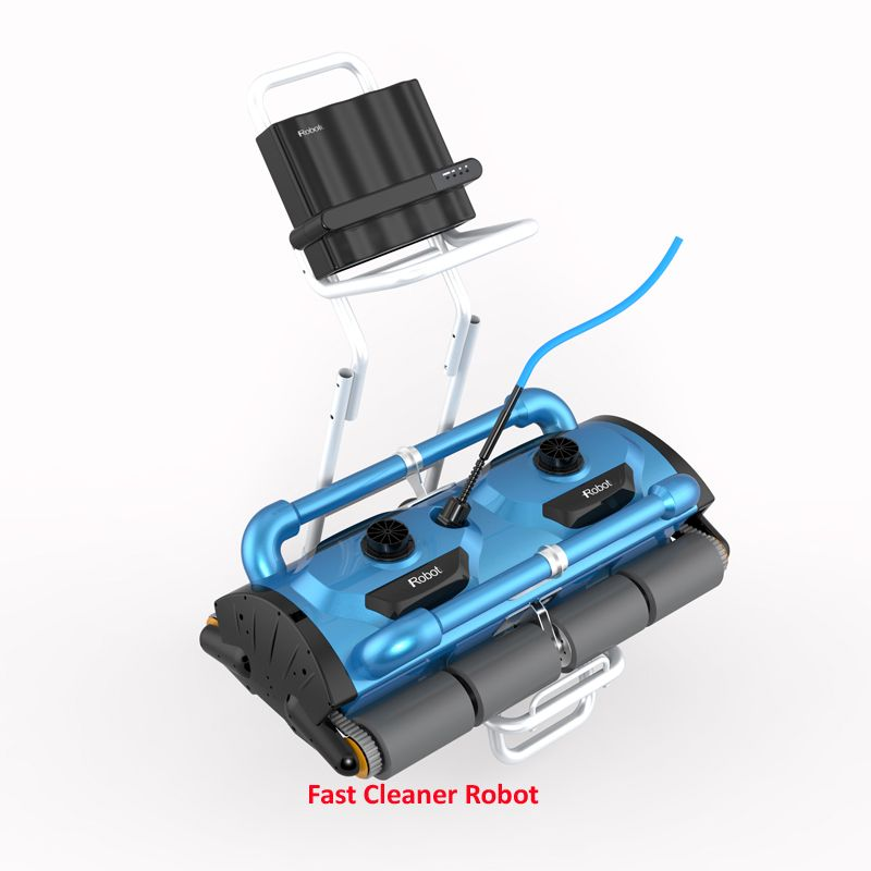 Handels Verwendung Robotic Automatische pool reiniger Icleaner-200D mit 40 mt Kabel Für Große Pool Größe (mindestens 1000m2) mit Caddy warenkorb
