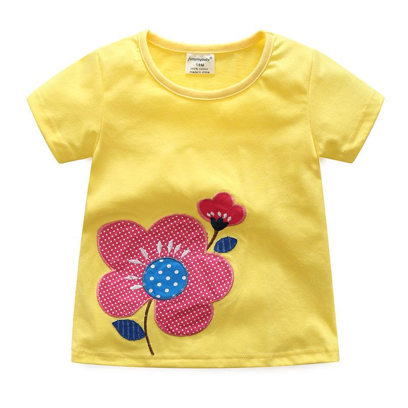 2017 Ropa de Los Niños Niñas de Algodón De Verano Camisetas Niños Camiseta Camiseta de Minnie Del Gatito T-Shirt Ropa de Bebé Trajes de La Muchacha