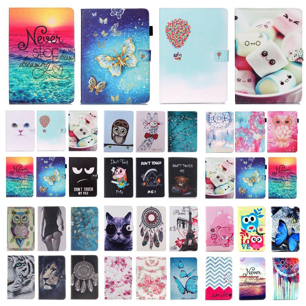 For Apple iPad mini 1 2 3 Van Gogh Cat Print Flip PU Leather Wallet Stand Case For ipad mini1 mini2 mini3 7.9'' Tablet Cover