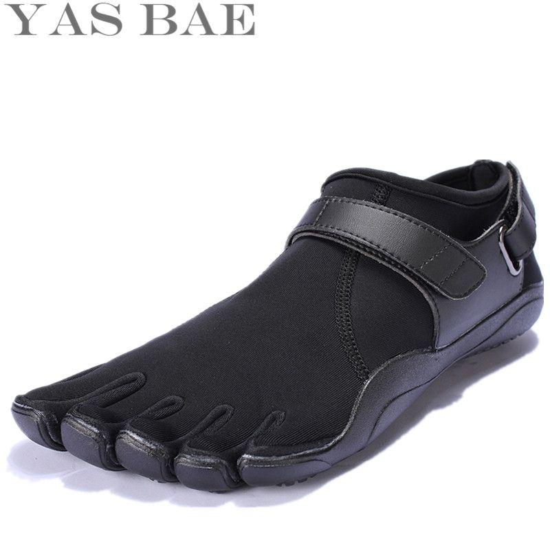 Yas Bae taille 45 44 vente chine marque Design caoutchouc avec cinq doigts extérieur antidérapant respirant léger chaussure pour hommes