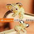 IST Luxury 3.5MM Headphone Dust Plug For iPhone Samsung LG iPad iPod Cute Rhinestone Golden Cartoon Phone Plug