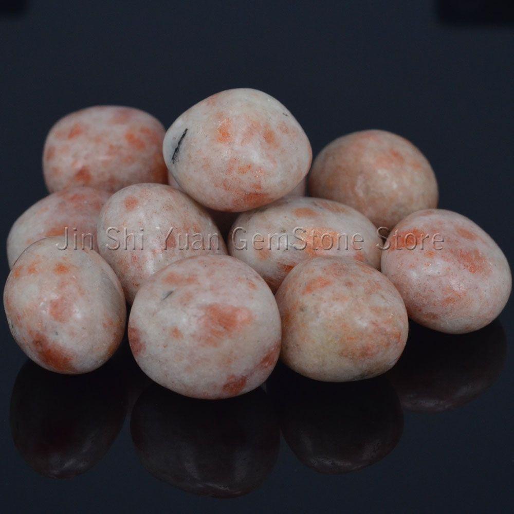 Vrac Dégringolé Sunstone Pierres de Australie Naturel Gemstone Poli Fournitures pour Wicca, Reiki, Crystal Healing