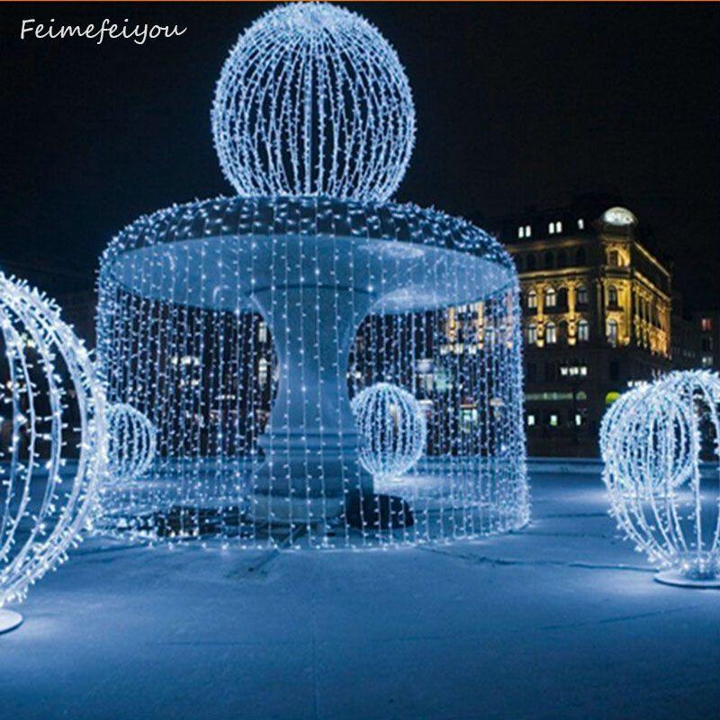 Nouvelle année! Usine vente directe 110 V 220 V RGB 300 LED S 3 M * 3 M LED Rideau Cascade De Noël party Chistmas Décoration de Vacances Lumières