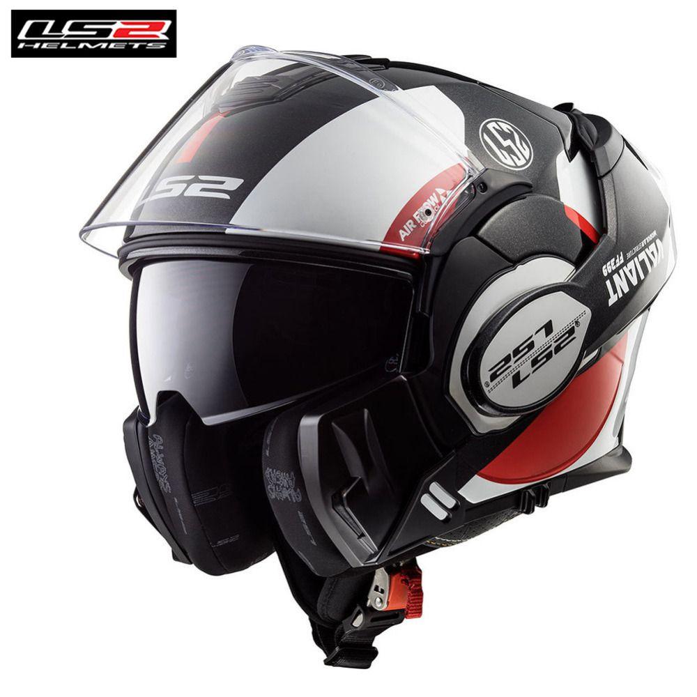 LS2 Tapfere Flip Up Modulare Motorrad Touring Helm Capacete Casco Casque Moto Öffnen Volles Gesicht Helme Kask Helm Cruiser