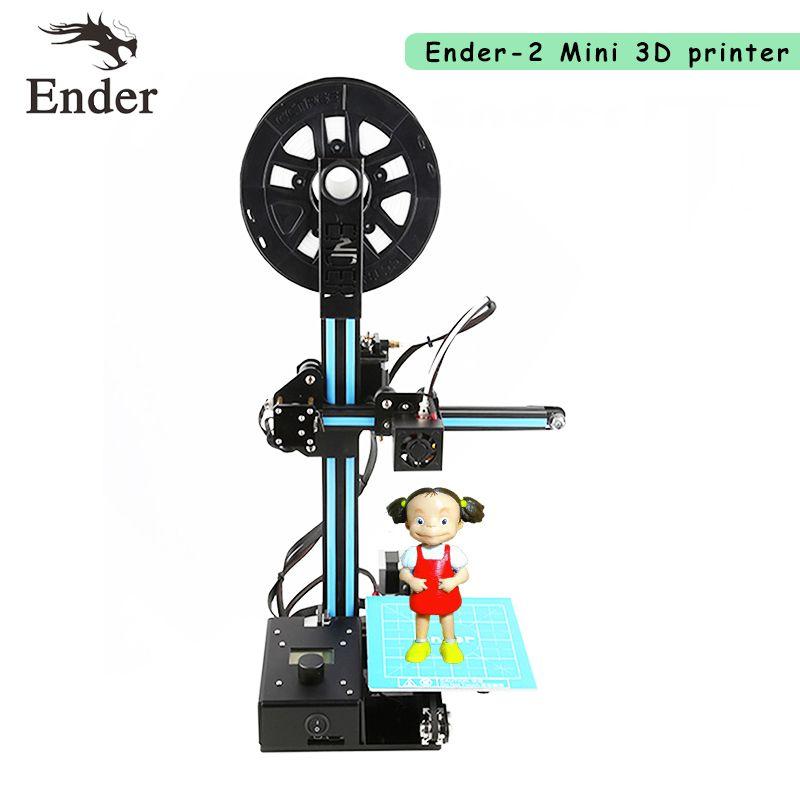 2017 Date Ender-2 3D Imprimante BRICOLAGE KIT Mini imprimante 3D machine Reprap prusa i3 Poulie Version Linéaire Guide imprimante 3D n Filament