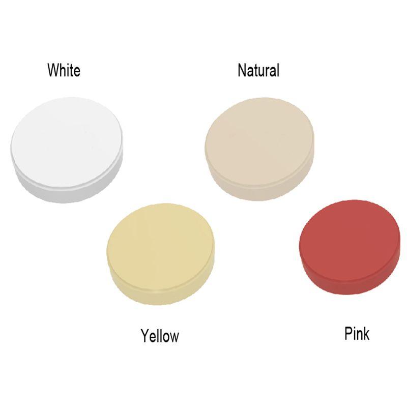 Dental PEEK Disc 98*16mm 98*18mm Natural Pink Yellow and White Color CAD CAM Ceramic PEEK polymer for digital dental prosthetics