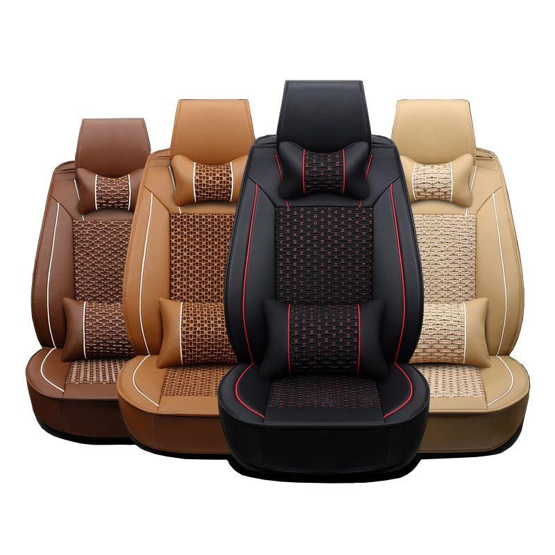 Leder autositzbezüge Für Hyundai IX35 IX25 Sonata Santafe Tucson ELANTRA Accent Verna I30 auto zubehör styling