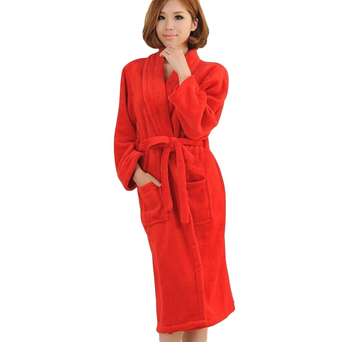 Warm Robes  Winter Peignoir Femme Capuche Women Badjas Night-robe Winter Women's Long Gown Lady Men Badjas Dames Hotel Bridal