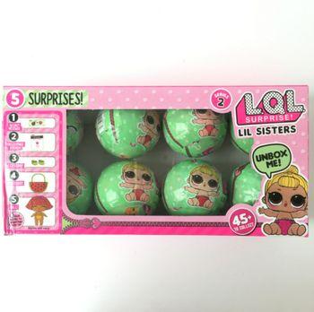 Серии 2 8 шт./кор. отправлен случайный LOL сюрприз куклы Забавный яйцо мяч фигурку игрушки LOL кукла сюрприз модели Обувь для девочек весело Рожд...