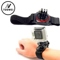 TuoWei For Gopro Accessories 360 Degrees Armlet Wrist Band Arm Shell Strap with Go pro Adapter Mount For GoPro Hero4 3+ 3 sj4000