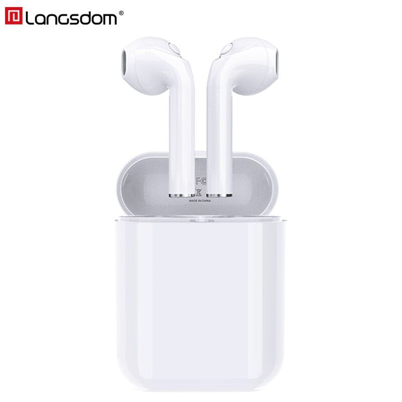 Langsdom Wireless Bluetooth Earphones True Wireless Headphone Earbuds Stereo Headsets for Phone Xiaomi HD Communication Portable