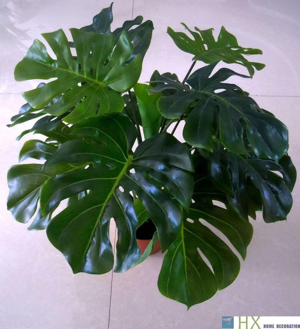 Livraison gratuite (2 pcs/lot) tortue feuilles plantes, arbre artificiel, plantes artificielles, décoration de la maison, plantes d'intérieur