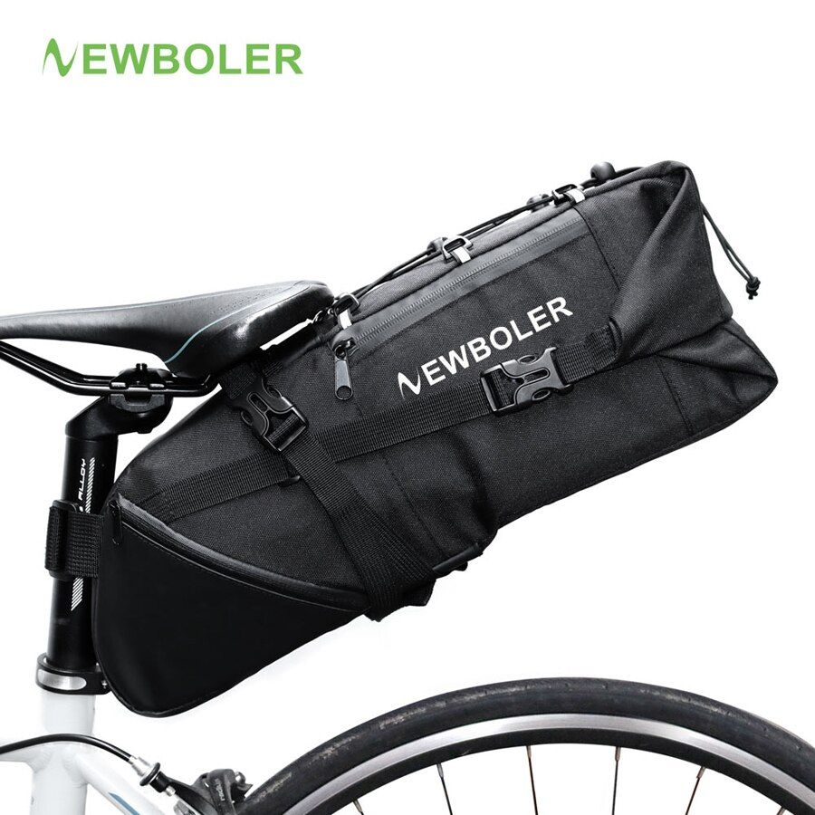 NEWBOLER 2018 Bike Bag Bicycle Saddle Tail Seat Waterproof Storage Bags Cycling Rear Pack Panniers Accessories 10L Max
