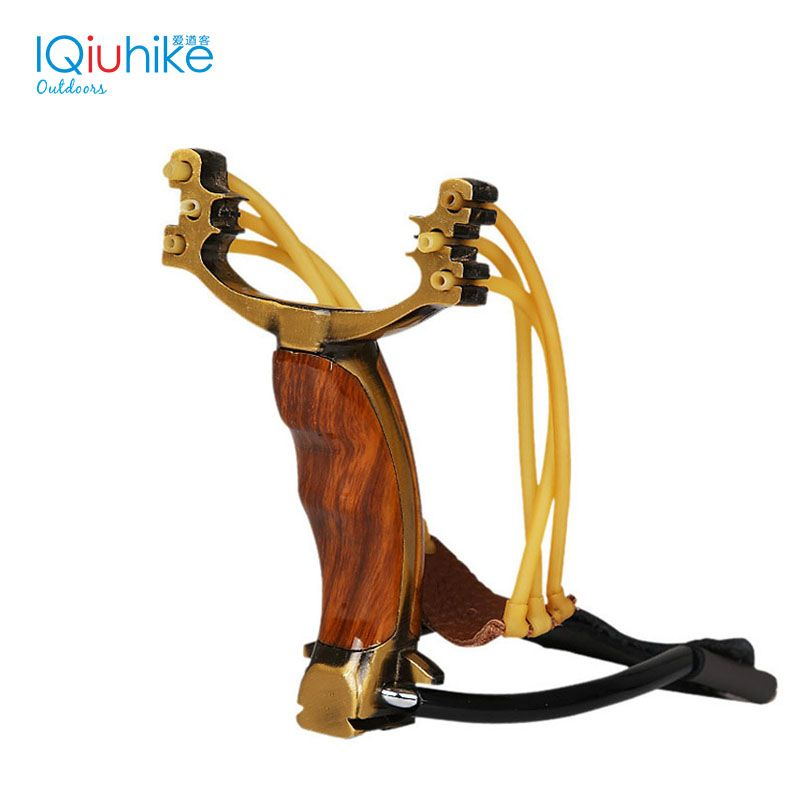 Powerful Hunting Slingshot Rubber Band Tubing PU Leather Catapult Professional Tactical Stainless Steel Pocket Sling Shot Ball
