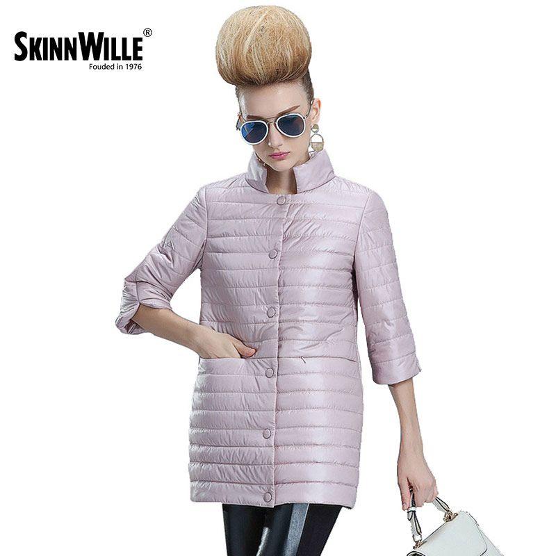 Skinnwille 2017 Новая женская куртка на весну и на раней осени пальто женское комфортное легкое куртка на синтепоне пуховик женский высшего качест...