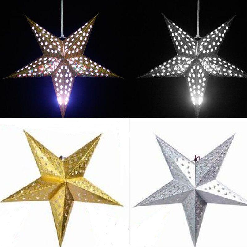 90 cm 35 pulgadas brillante estrella De Papel linternas lampshade flor Party Decor Craft Para Decoración de La Boda colorida